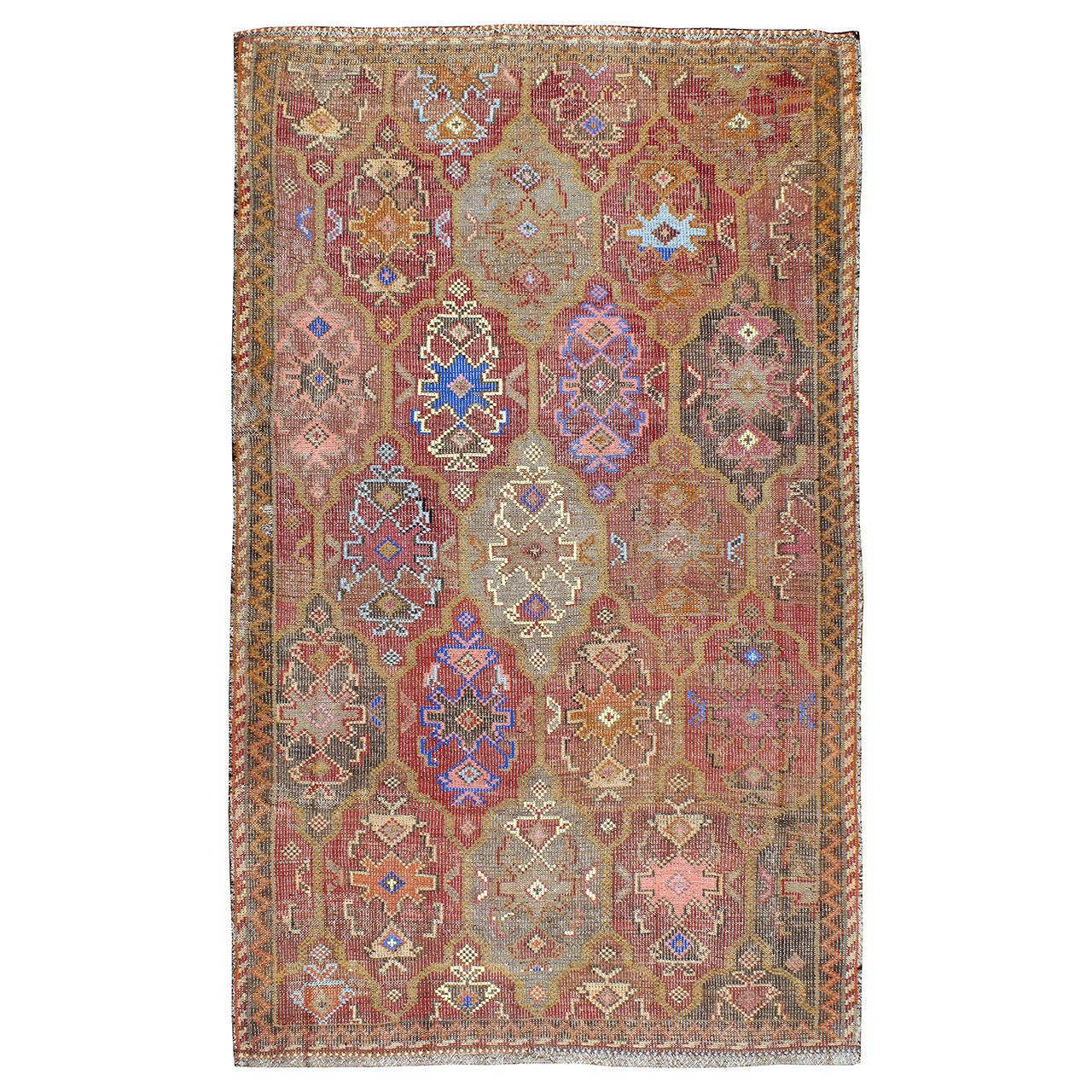 Vintage Turkish Flat Weave Rug: Vintage Flat-Weave Kilim Rug At 1stdibs