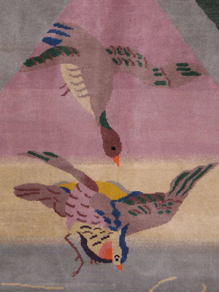 Art Deco Antique Japanese Deco Art Rug For Sale