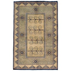 Vintage Indian Deco Style Rug