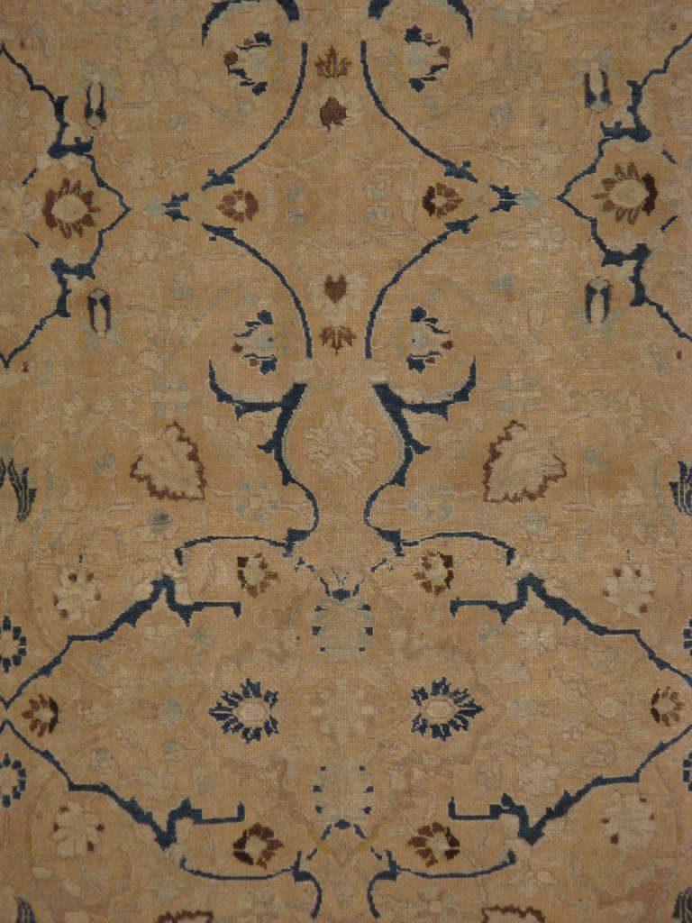 An early 20th century Persian Tabriz. Since the 19th century, Iran started exporting artisan carpets around the world, especially to Europe. Artists used one of the three versions of vertical looms later referred to as a Tabriz Loom. Artists created