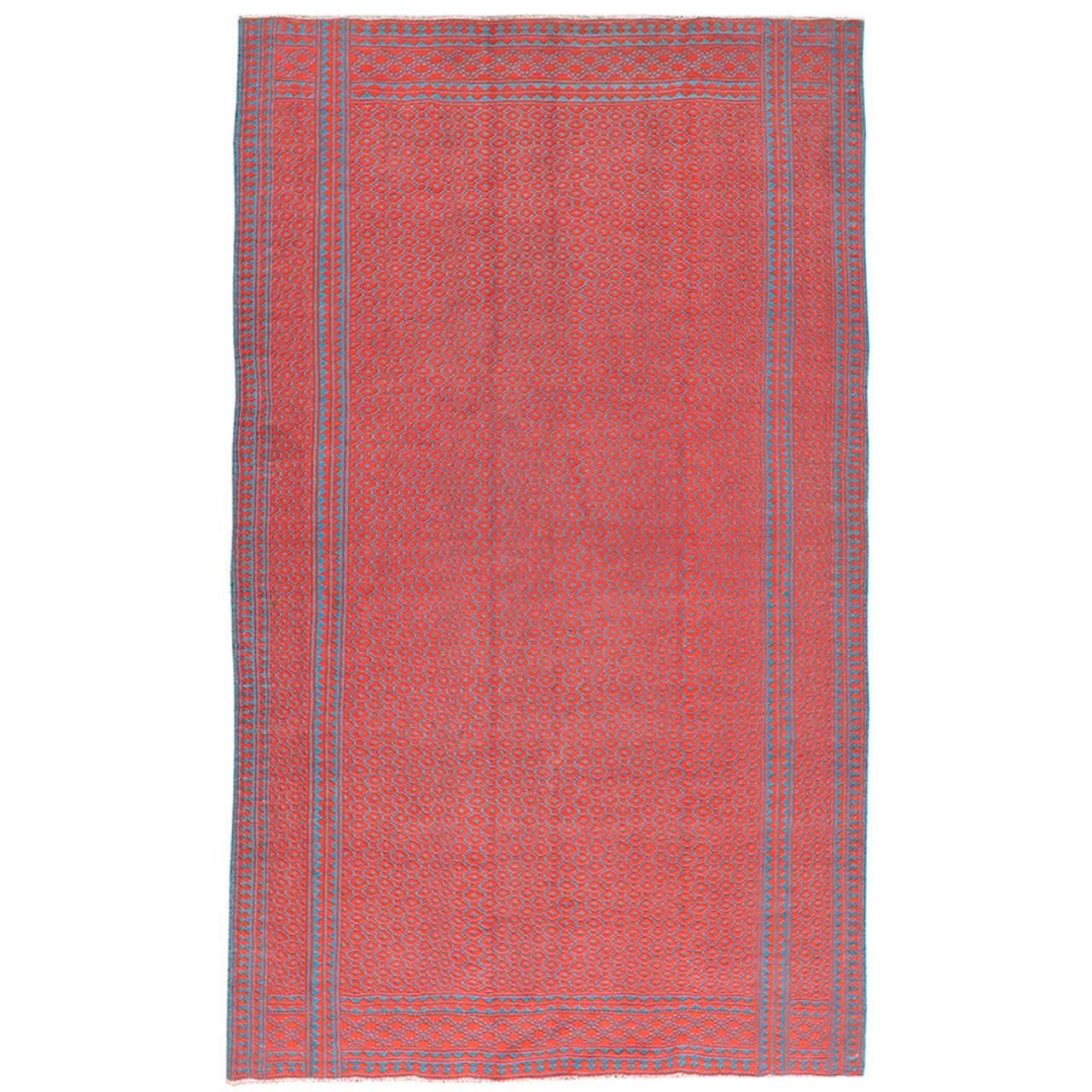 Vintage Persian Reversible Flat-Weave Kilim Rug