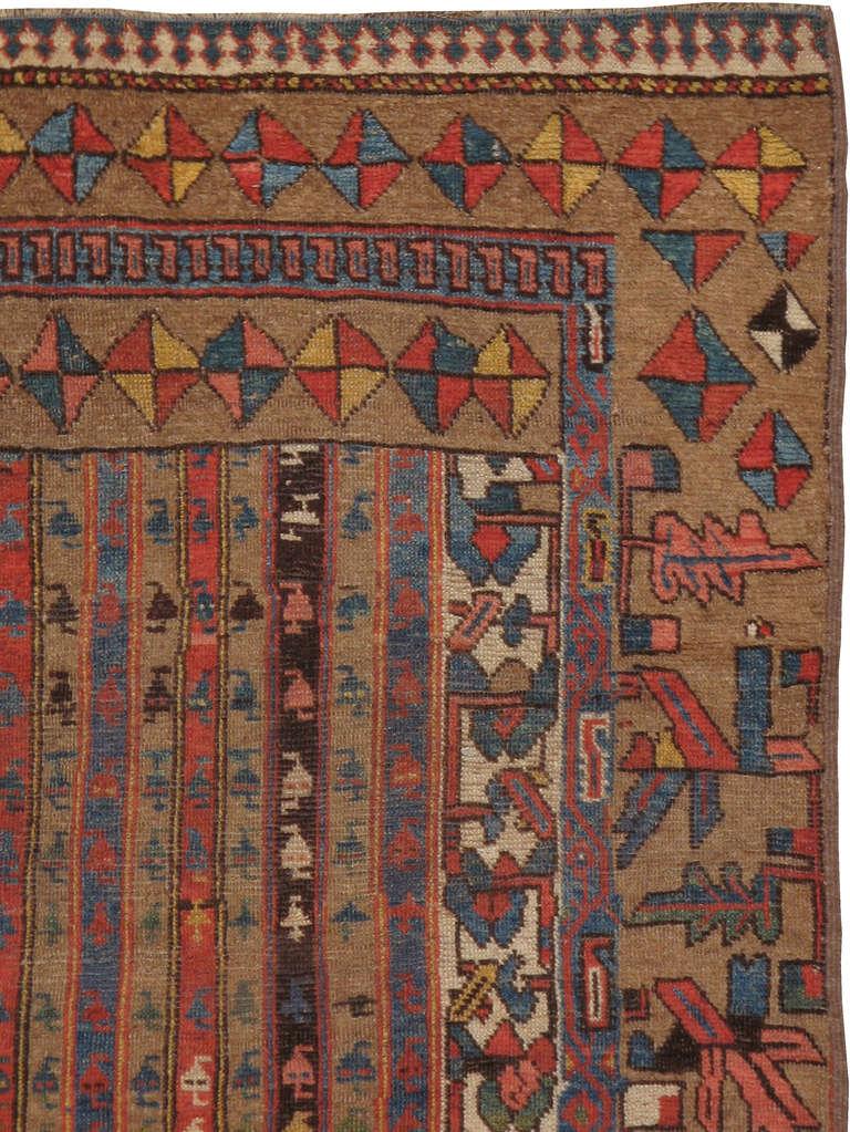 Antique Persian Sampler Rug For Sale At 1stdibs