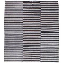 Vintage Turkish Textile Flatweave Rug