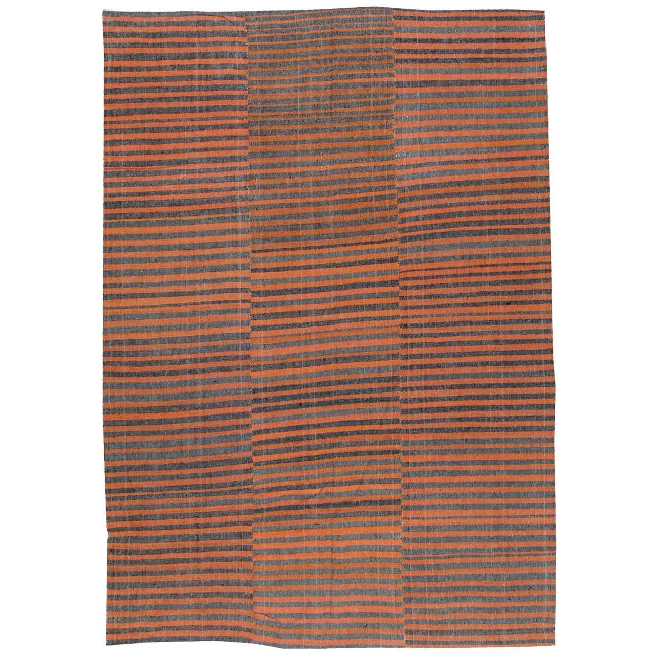 Vintage Turkish Flat Weave Rug: Vintage Turkish Textile Flat-Weave Rug At 1stdibs