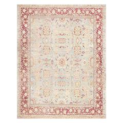 Beautiful Light Blue Antique Agra Carpet