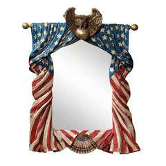 American Flag Mirror