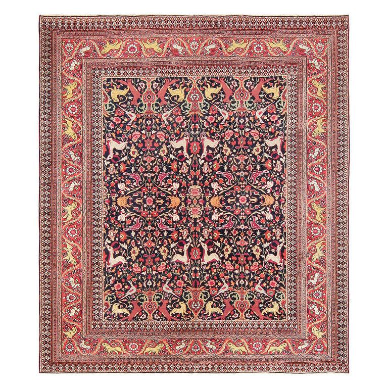 Dead Dog Rug For Sale: Animal Motif Antique Persian Khorassan Rug For Sale At 1stdibs