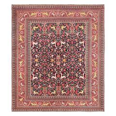 Animal Motif Antique Persian Khorassan Rug