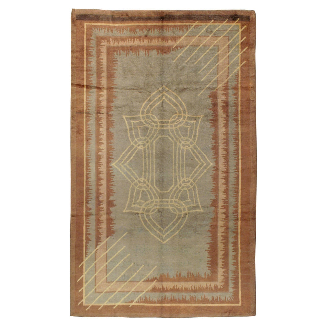 antique european art deco rug for sale at 1stdibs. Black Bedroom Furniture Sets. Home Design Ideas