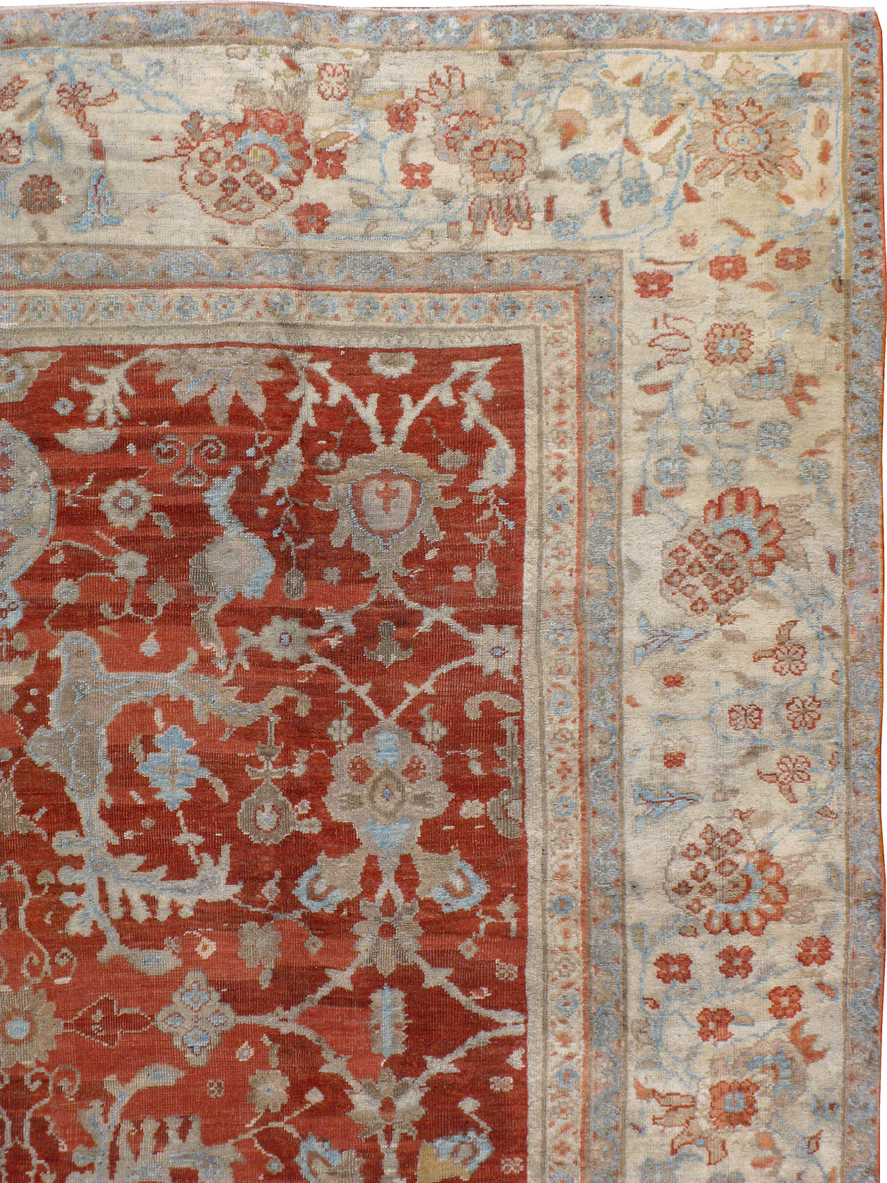 Hand-Woven Antique Persian Sultanabad Rug For Sale