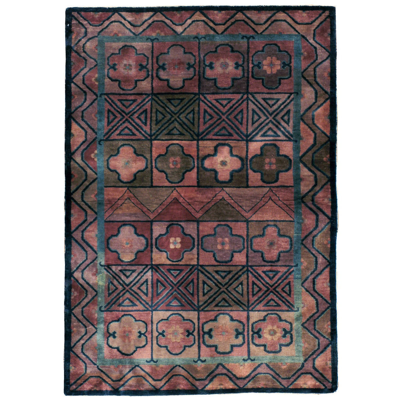 Antique Chinese Art Deco Rug For Sale At 1stdibs