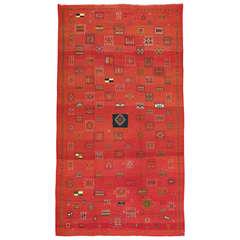 Vintage Moroccan Kilim Flat-Weave