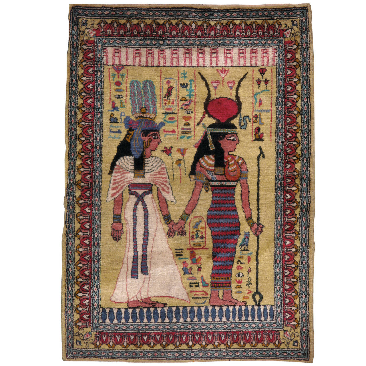 Vintage Egyptian Pictorial Rug 1
