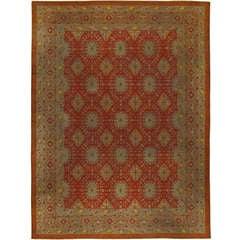 Antique Indian Amritsar Carpet