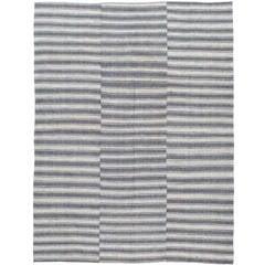 Vintage Turkish Flat-Weave Textile Kilim Rug