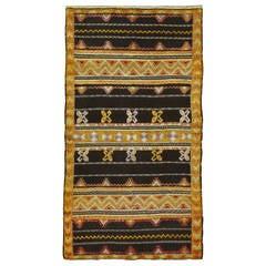 Modern Moroccan Flat-Weave Rug