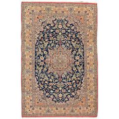 Vintage Persian Nain Rug