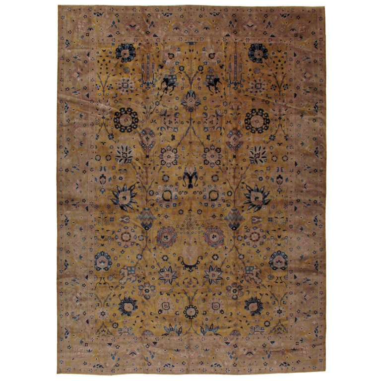 Arts And Crafts Rugs With Exciting Indian Agra Rug Design: Antique Indian Lahore Rug At 1stdibs