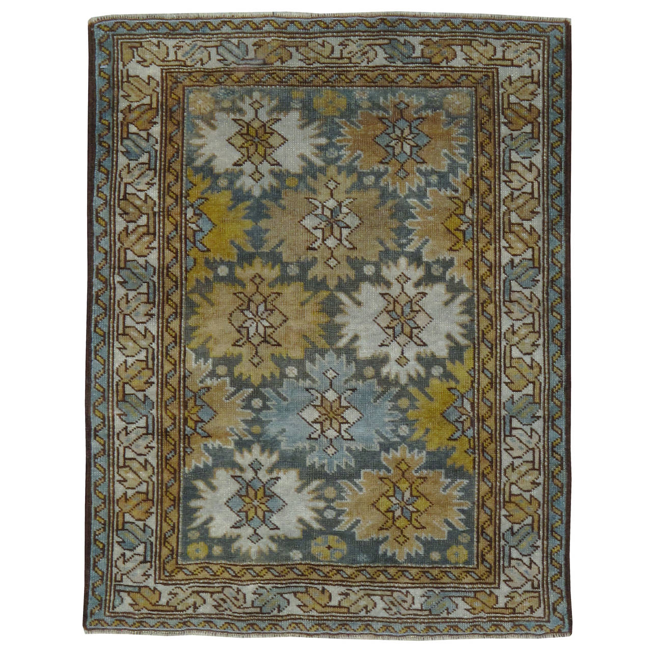 Vintage Throw Rugs: Antique Caucasian Throw Rug At 1stdibs