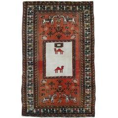 Vintage Northwest Persian Pictorial Rug