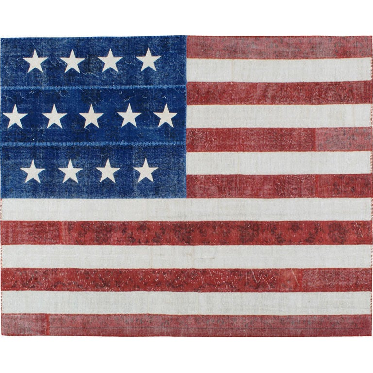 Vintage American Flag Rug At 1stdibs