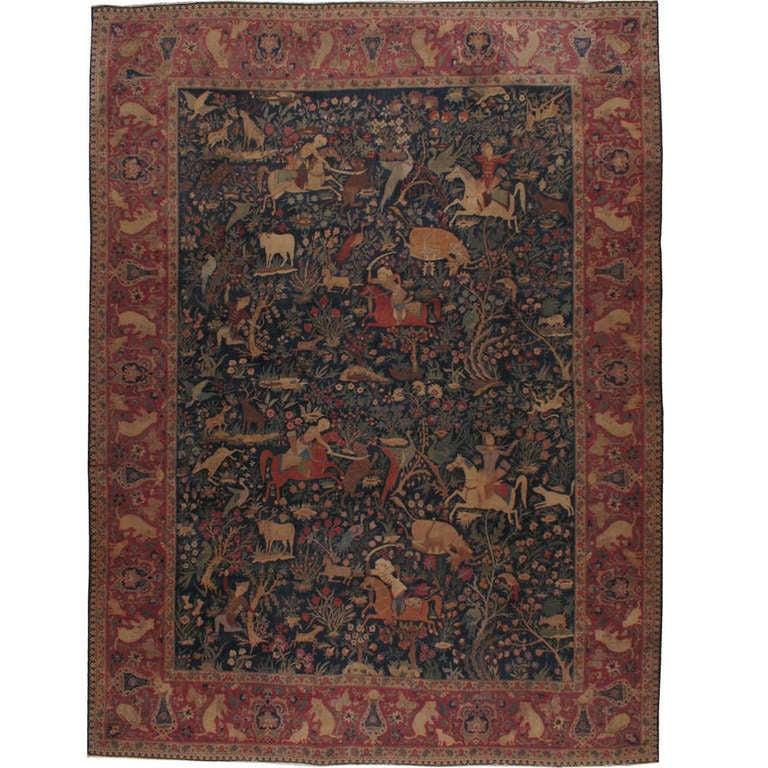 Antique Persian Isfahan Rug At 1stdibs