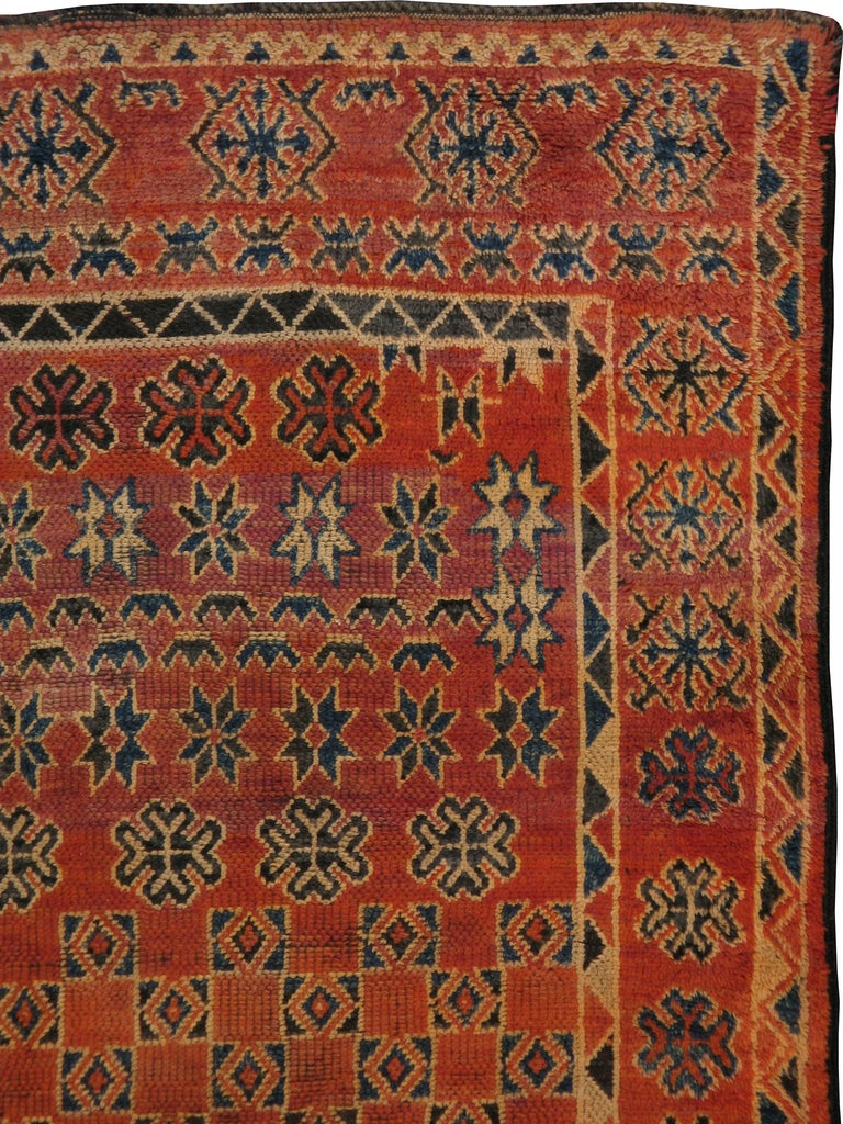 Mid Century Vintage Moroccan Rug 5ft 11in X 8ft 1in At
