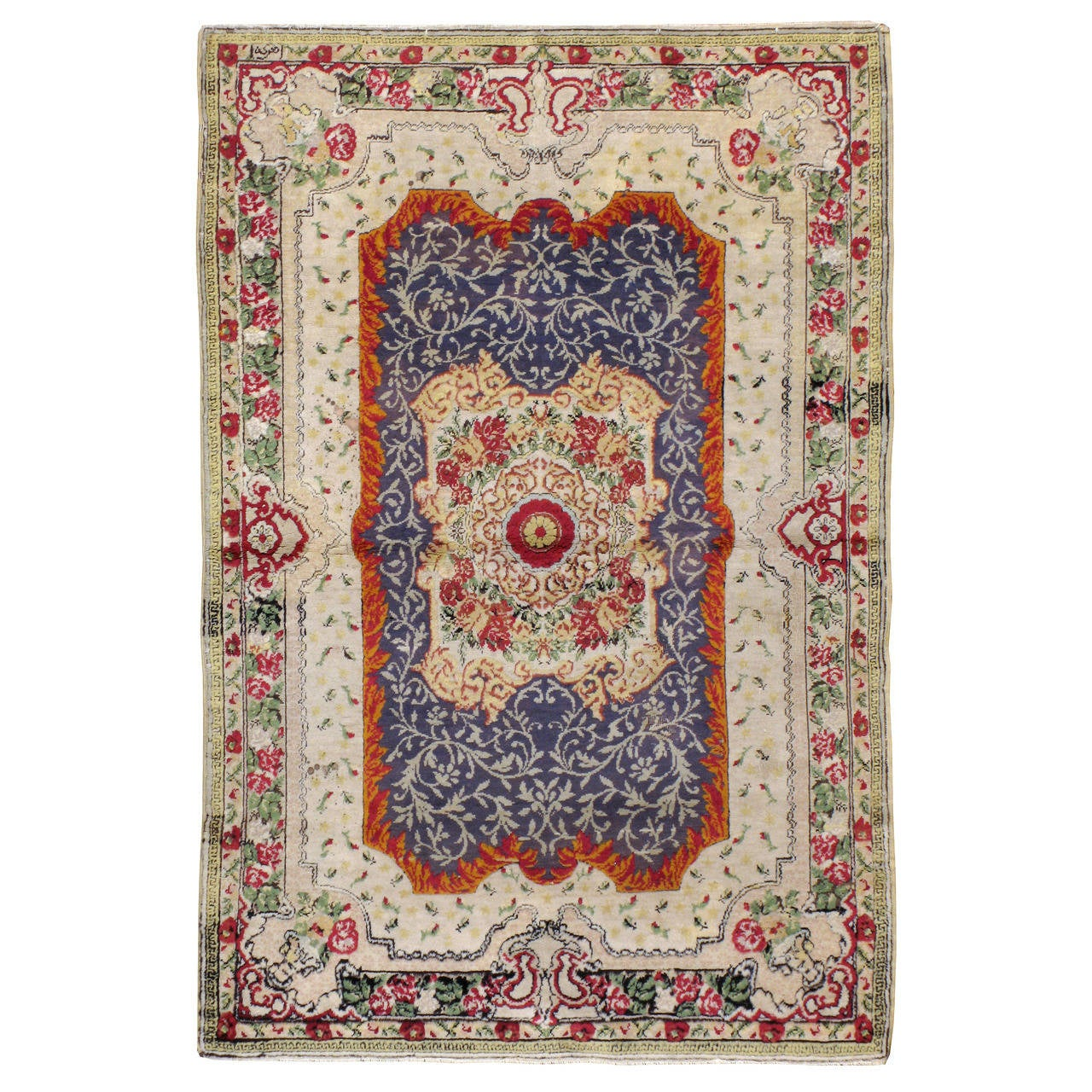 Antique Turkish Souf Hereke Rug