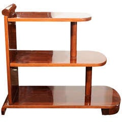 American Art Deco Streamline Three-Tiered End Table