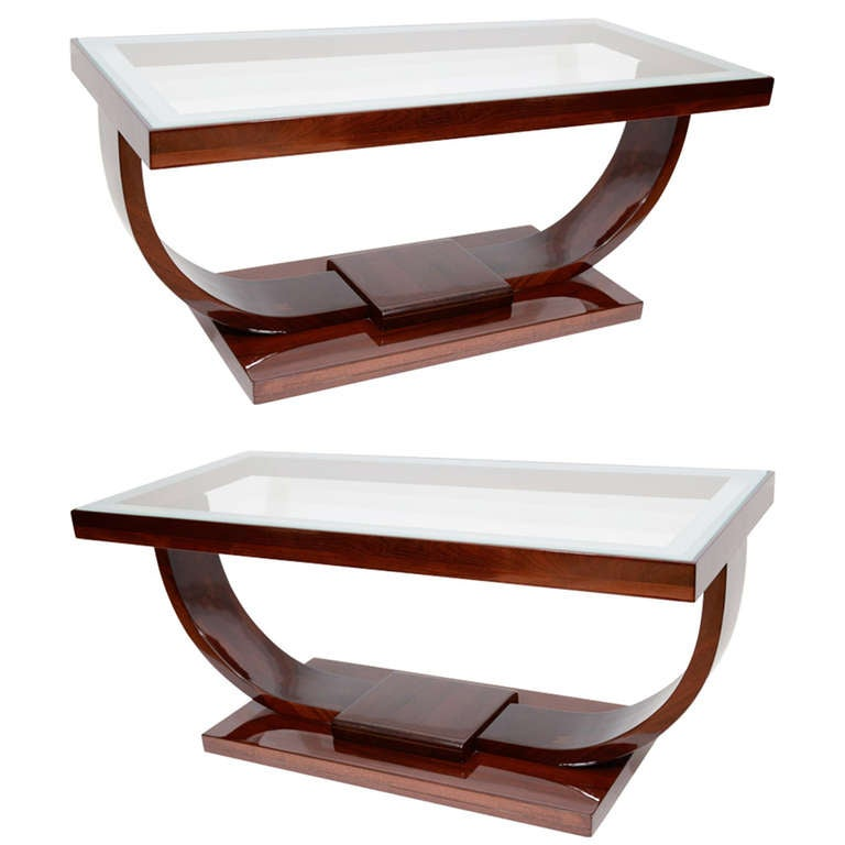 Art Deco U Base Coffee Table At 1stdibs