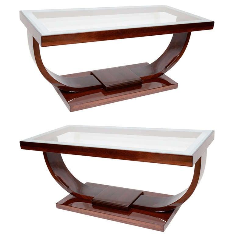 Art Deco Coffee Table Brisbane: Art Deco U-Base Coffee Table At 1stdibs