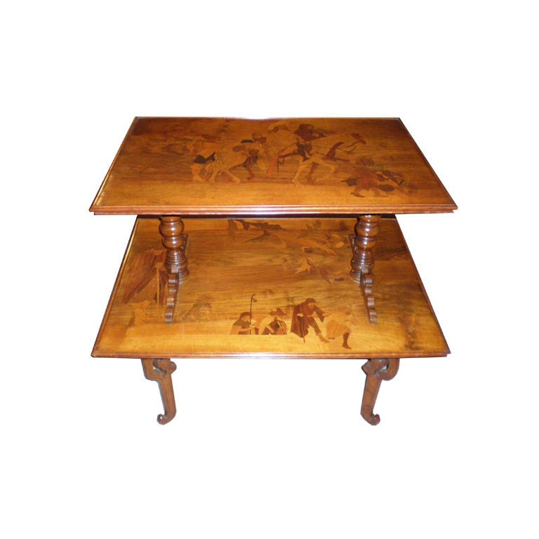 French Art Deco Emile Galle Two Tiered Table 1