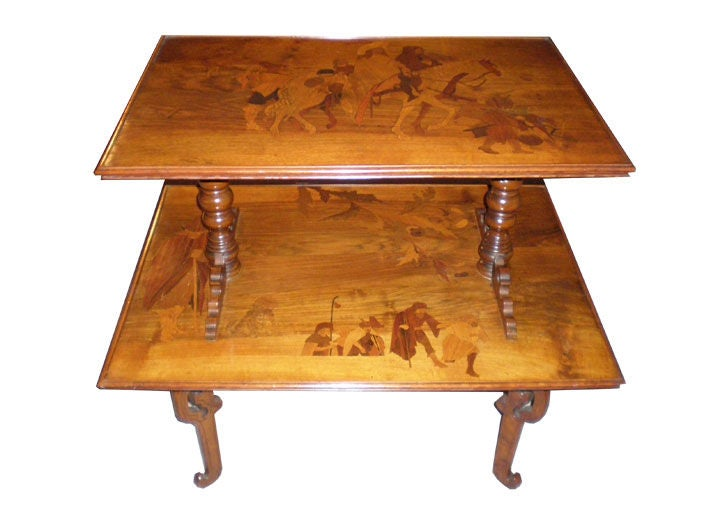 French Art Deco Emile Galle Two Tiered Table 3