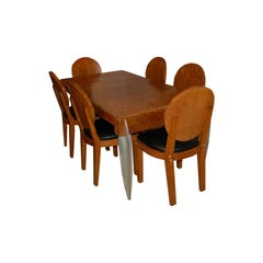 Dining Table and 6 Chairs by Michel Dufet