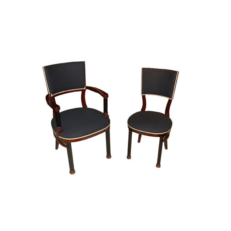 Set of 12 Sezession Dining Chairs
