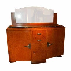 Art Deco Server with Marble Top