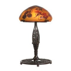 Emile Galle Art Deco Lamp