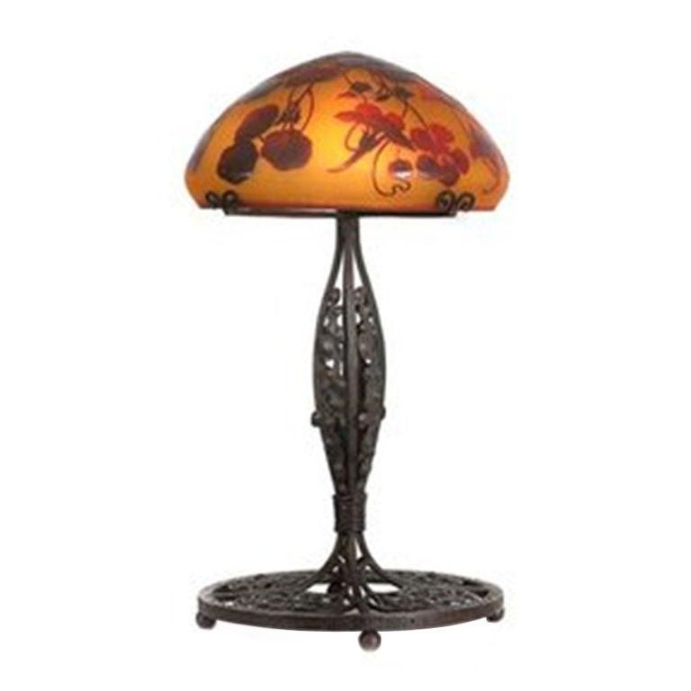 emile galle art deco lamp for sale at 1stdibs. Black Bedroom Furniture Sets. Home Design Ideas