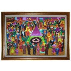"""Art, """"The Casino"""" By Malcah Zeldis"""