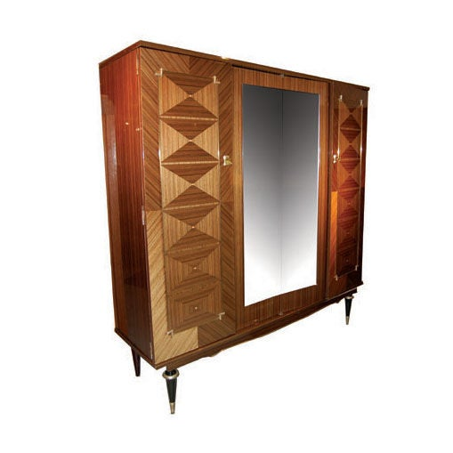 art deco armoire for sale at 1stdibs. Black Bedroom Furniture Sets. Home Design Ideas