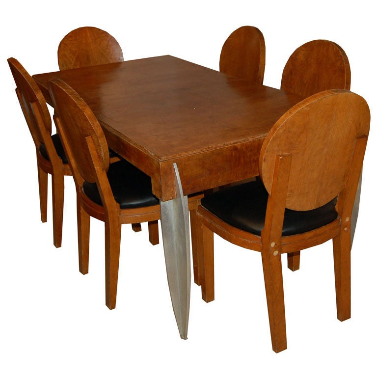 French Art Deco Dining Suite by Michel Dufet