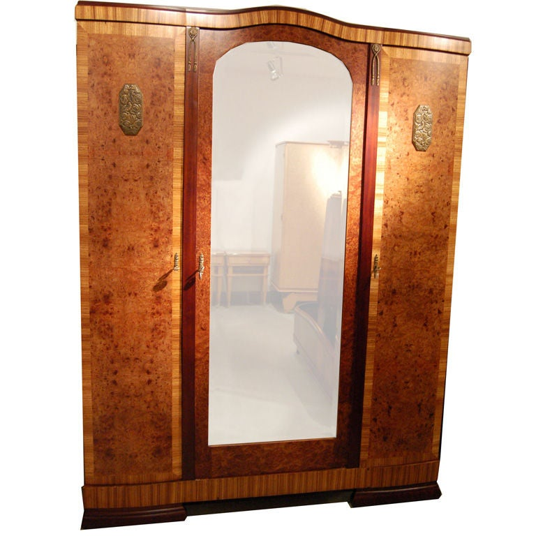french art deco armoire at 1stdibs. Black Bedroom Furniture Sets. Home Design Ideas