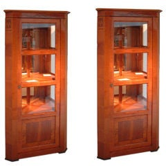 Baroque Corner Display Cabinets