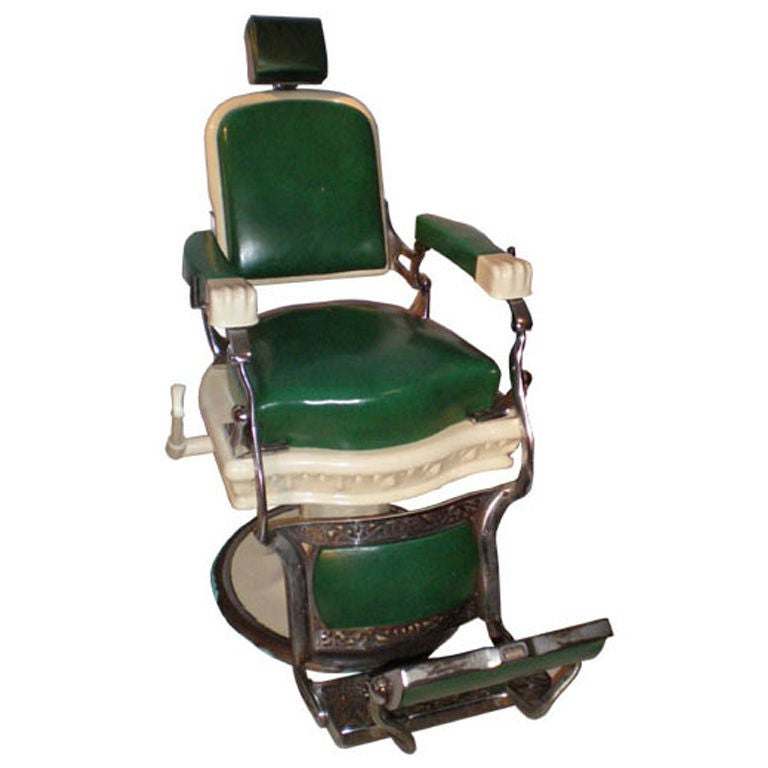 Barber Chairs : Barber Chair by Ernest Koken, from Empire State Building at 1stdibs