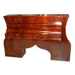 """Biedermeier """"Piano"""" Writing Desk"""