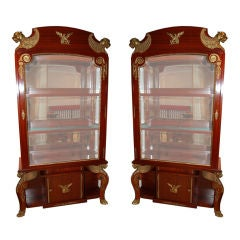 A Pair of Empire Revival Vitrines