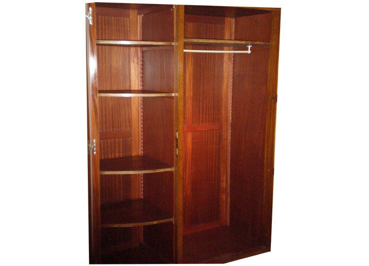 french art deco wardrobe armoire at 1stdibs. Black Bedroom Furniture Sets. Home Design Ideas