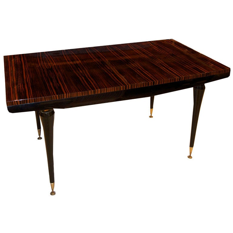 French Art Deco Rectangular Dining Table For Sale At 1stdibs