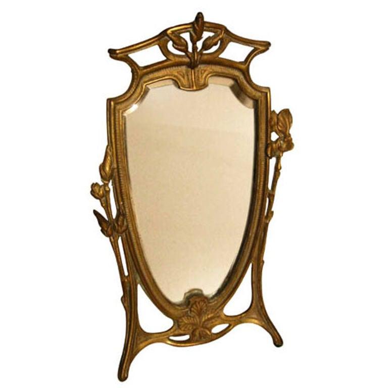 Art nouveau mirror at 1stdibs for Miroir art nouveau