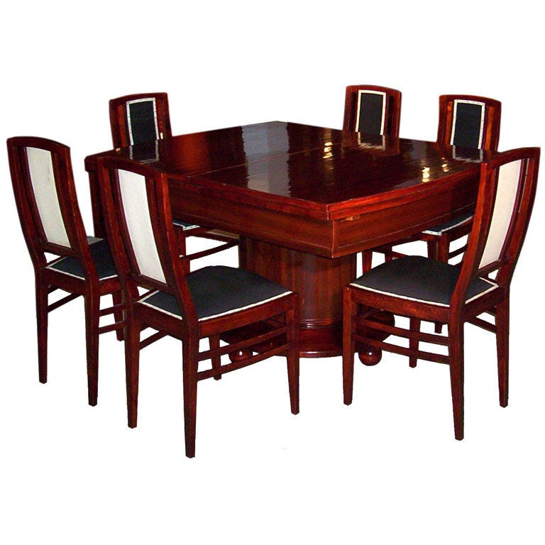 Xxx Art Deco Dining Table Chairs Home Decorating Ideas
